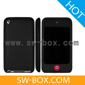 Candy Soft Silicone Skin Case for iPod Touch 4 - Black (40231)