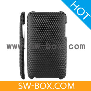Carbon Fiber Hard Back Cover Case With Cubes Pattern for iPod Touch 2 / 3 (Black)