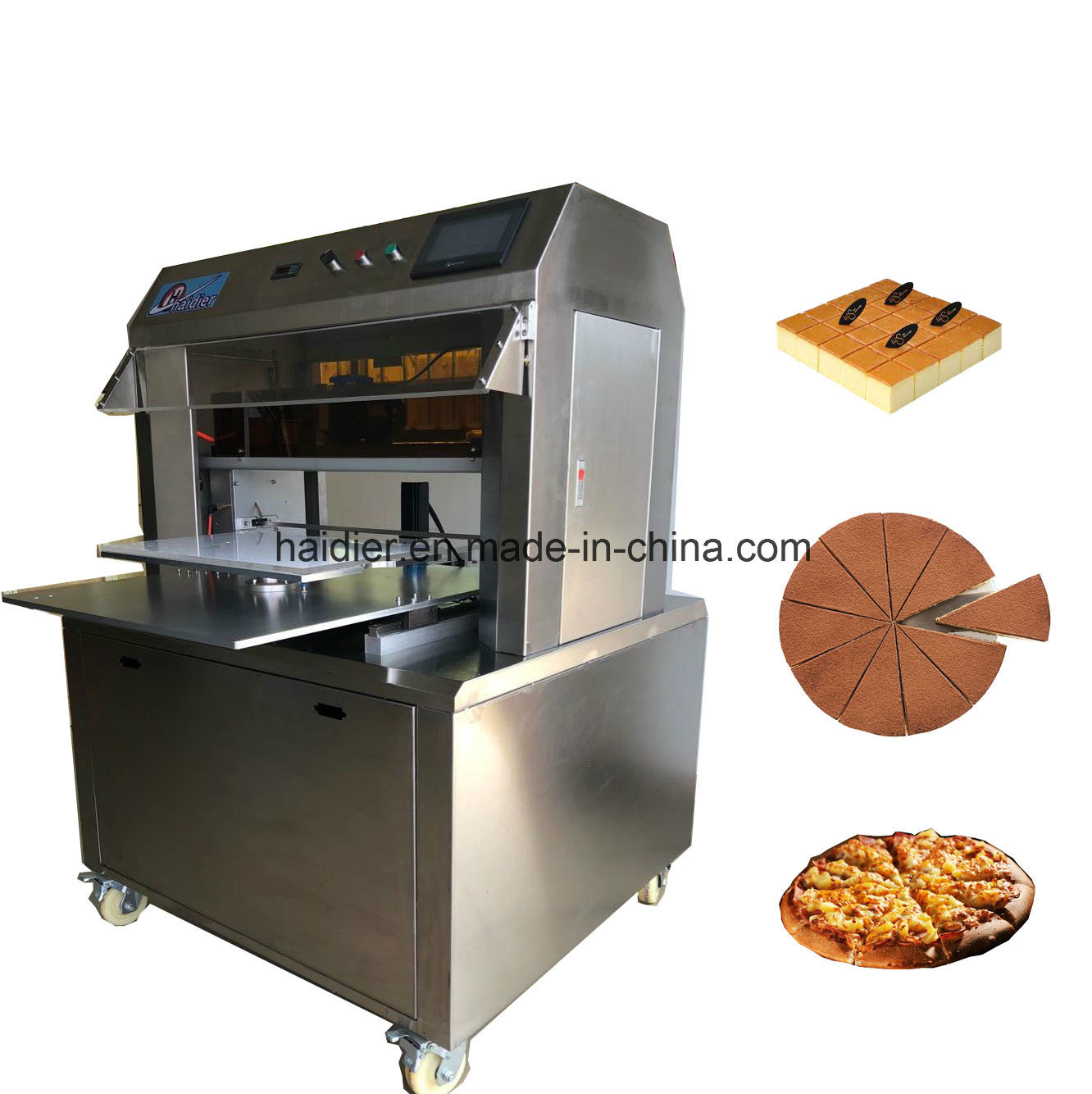 Bakery Pizza Slicing Machine/Full Automatic Cake Slicer Machine with Digital PLC Control System