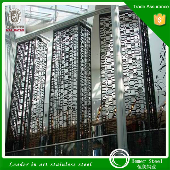 Mirror Color Laser Cut Stainless Steel Sheet for Screen Home Decoration