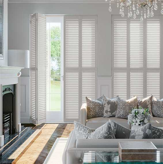 Custom Indoor Wood Window Blinds Folding Plantation Window Shutters