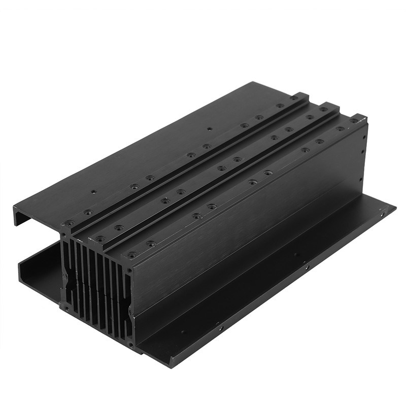 Aluminum Fin Heat Sink Mill Finish Anodized